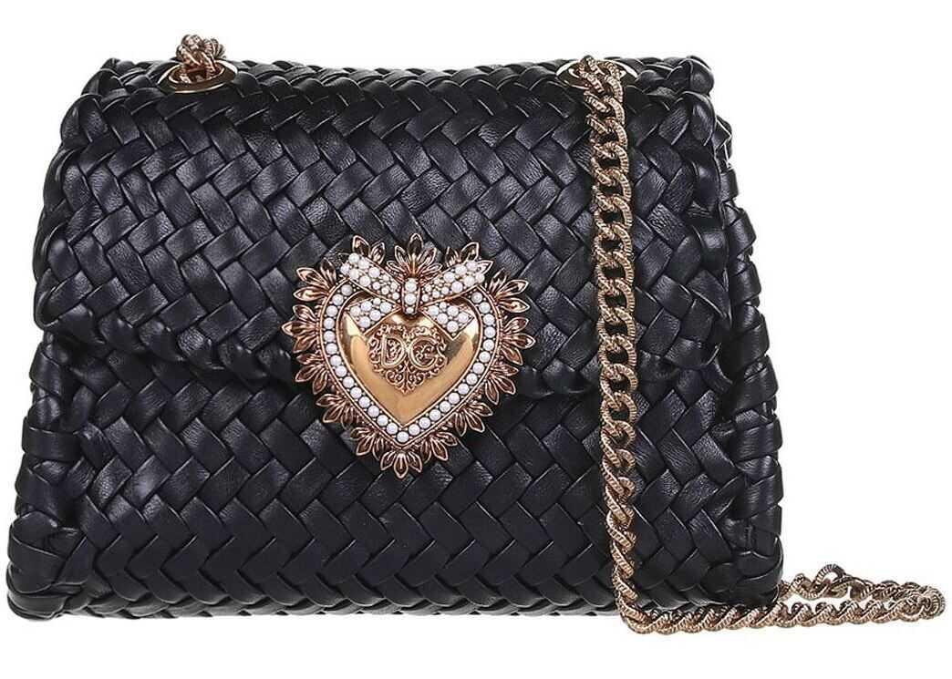 Dolce & Gabbana Devotion Bag In Black BB6877AX81380999 Black imagine b-mall.ro