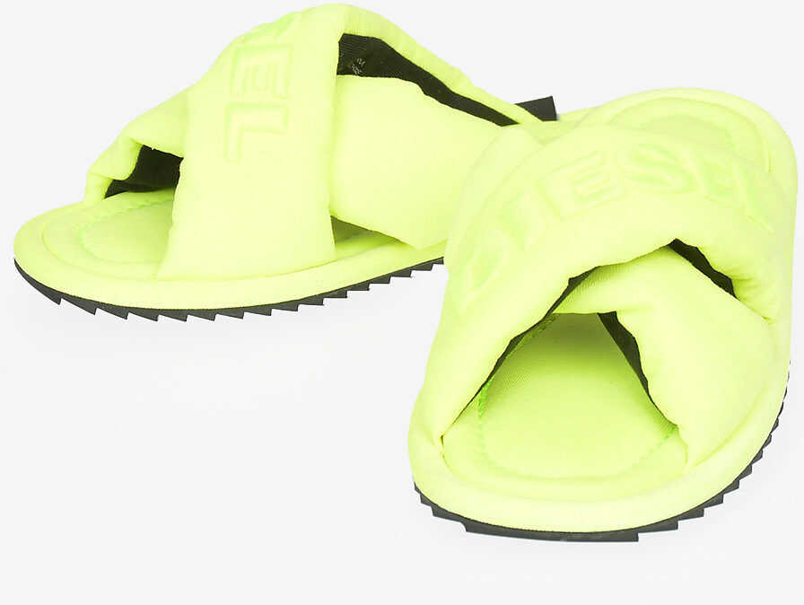 Diesel Fabric Fluo SA-MERY X Sandal YELLOW imagine b-mall.ro