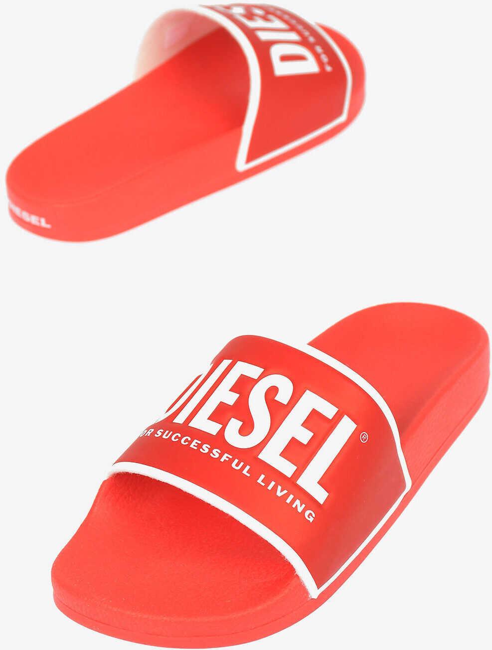 Diesel Rubber SA-VALLA Sandal RED imagine b-mall.ro