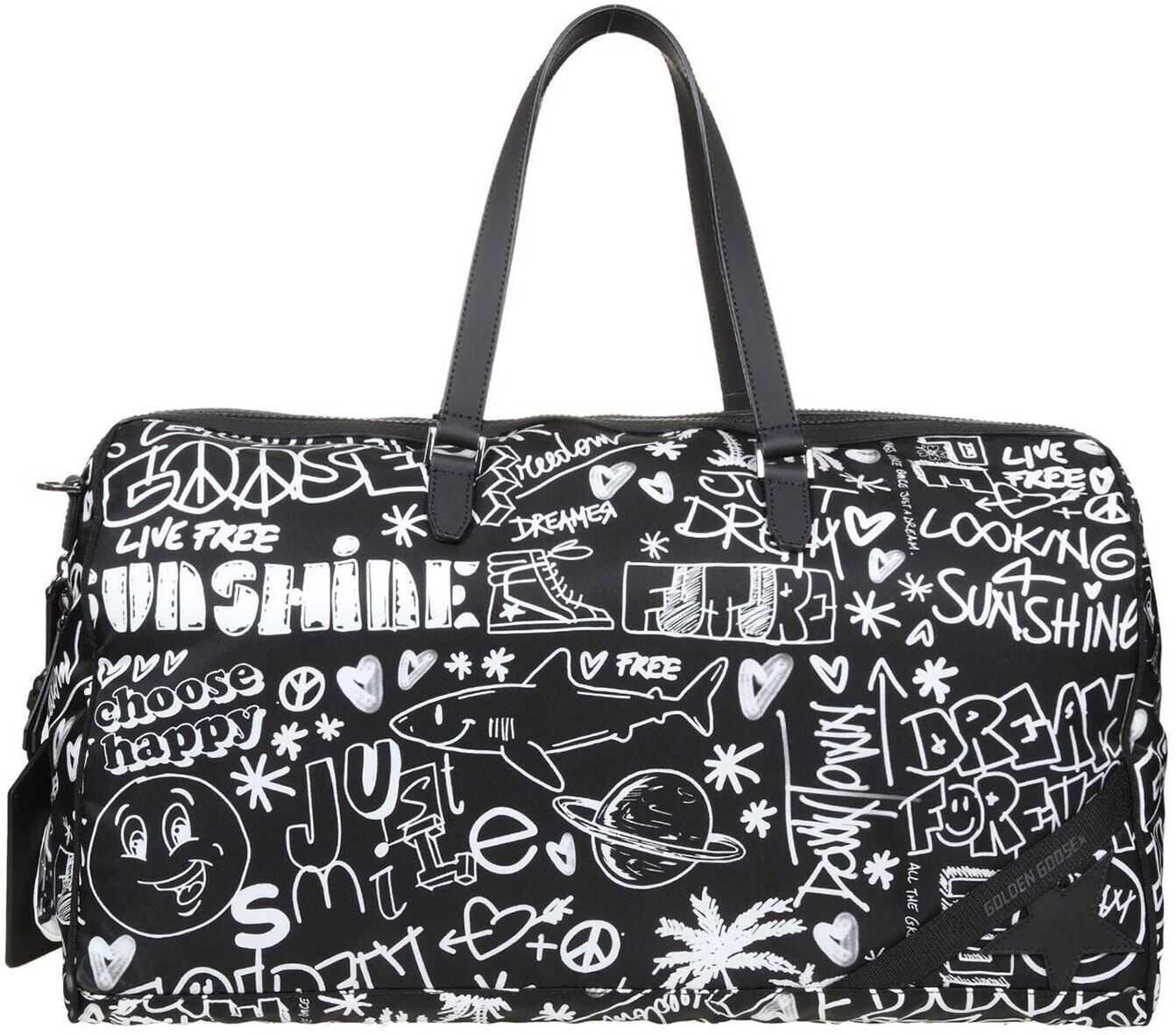 Golden Goose Journey Duffle Bag In Black GMA00153A00023480203 Black imagine b-mall.ro