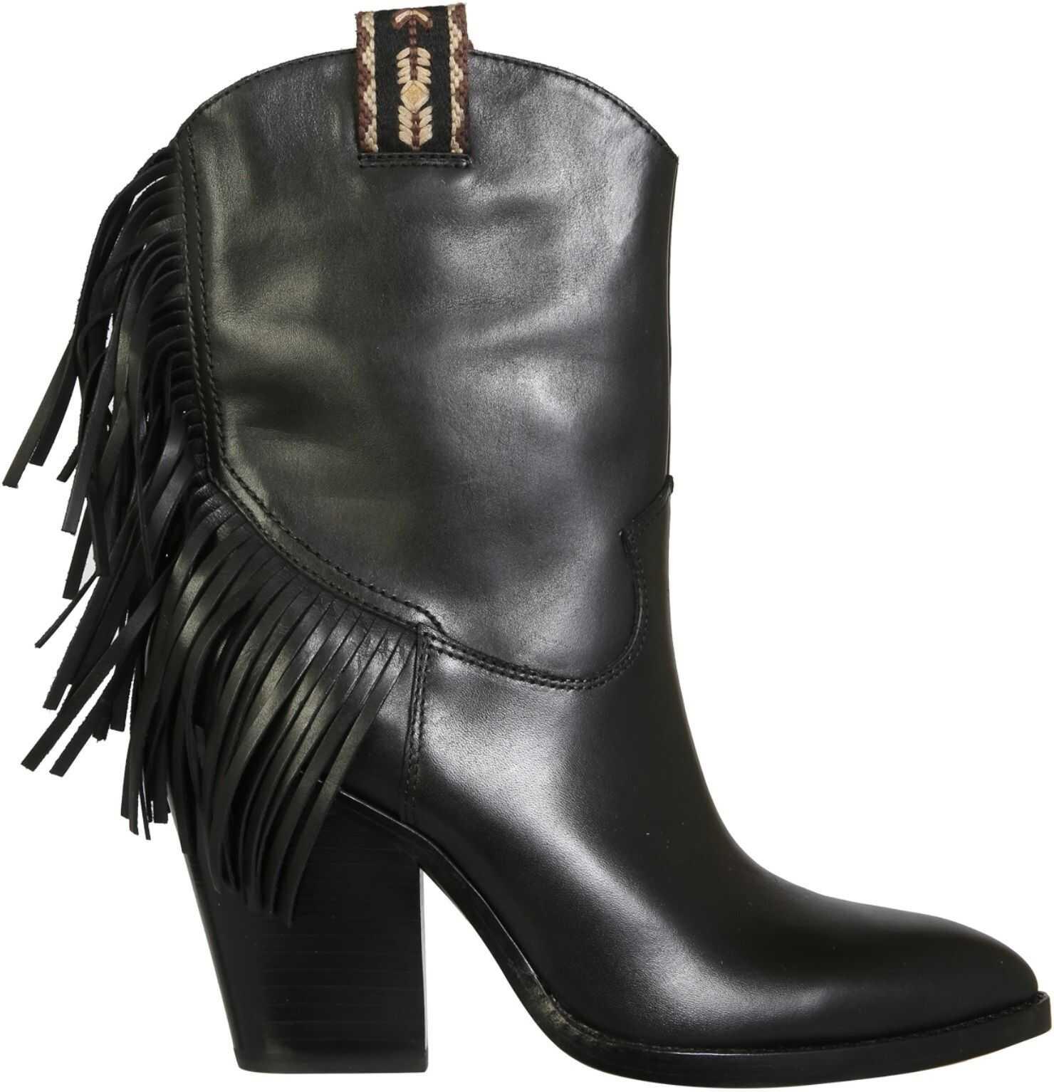 ASH Egon Boots EGON03_MUSTANGBLACK BLACK imagine b-mall.ro