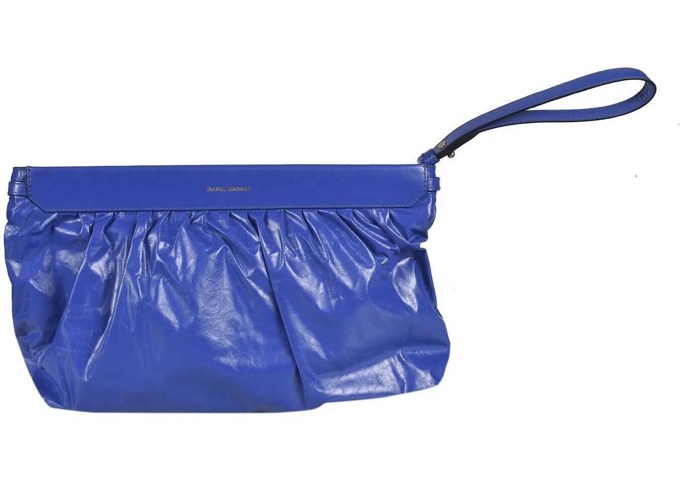 Isabel Marant Luz Clutch Bag In Blue PO011821E052MBLUE Blue imagine b-mall.ro