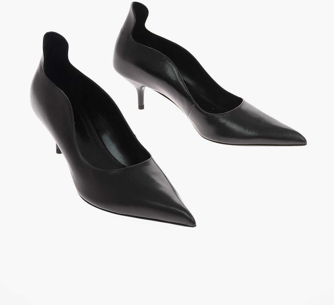 Calvin Klein 205W39NYC 6cm leather CASSIDY Pumps BLACK imagine b-mall.ro