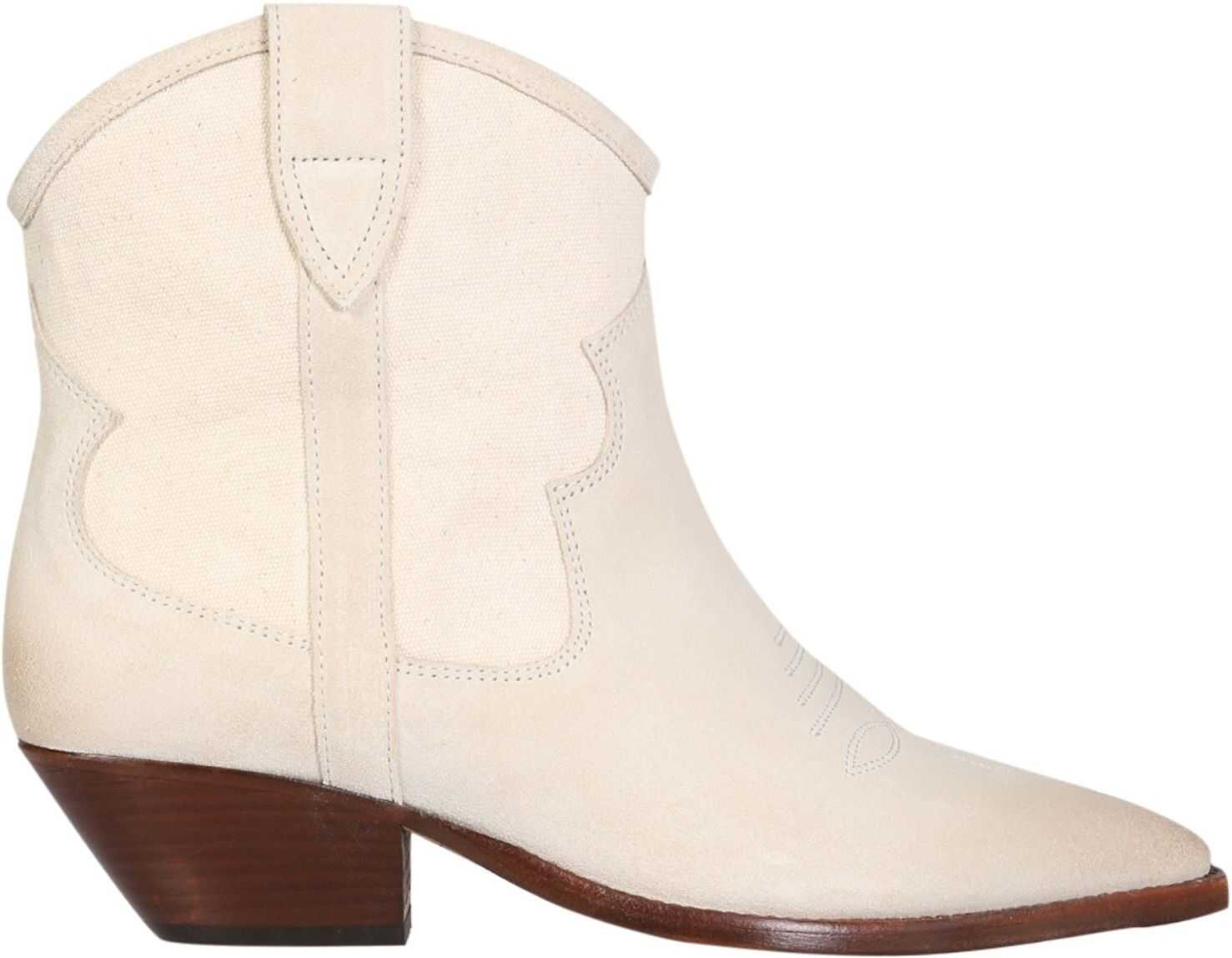 Isabel Marant Demar Boots BO0675_21E026S23EC POWDER imagine b-mall.ro
