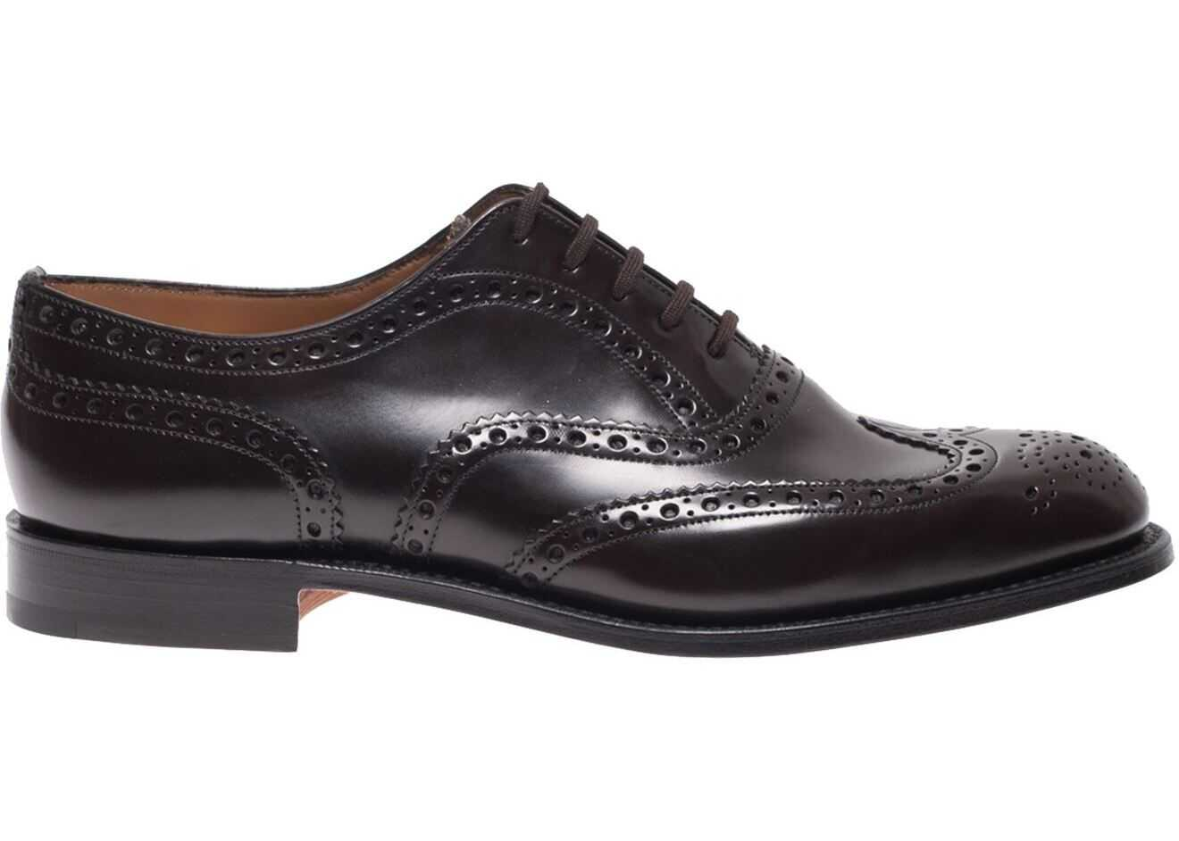 Church's Burwood Leather Oxford Shoes In Brown EEB2649XVF0AMA Brown imagine b-mall.ro