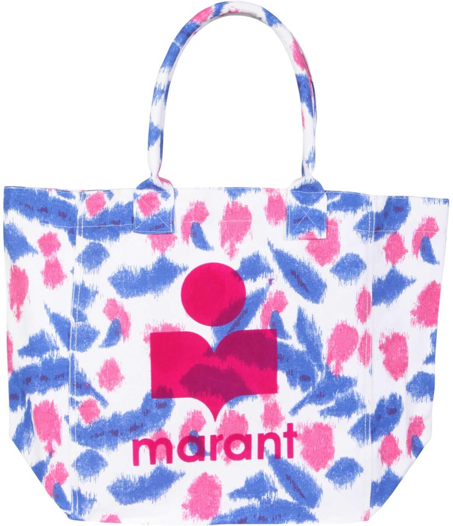 Isabel Marant Yenky Tote Bag PM0020_21E003M20WH MULTICOLOUR imagine b-mall.ro