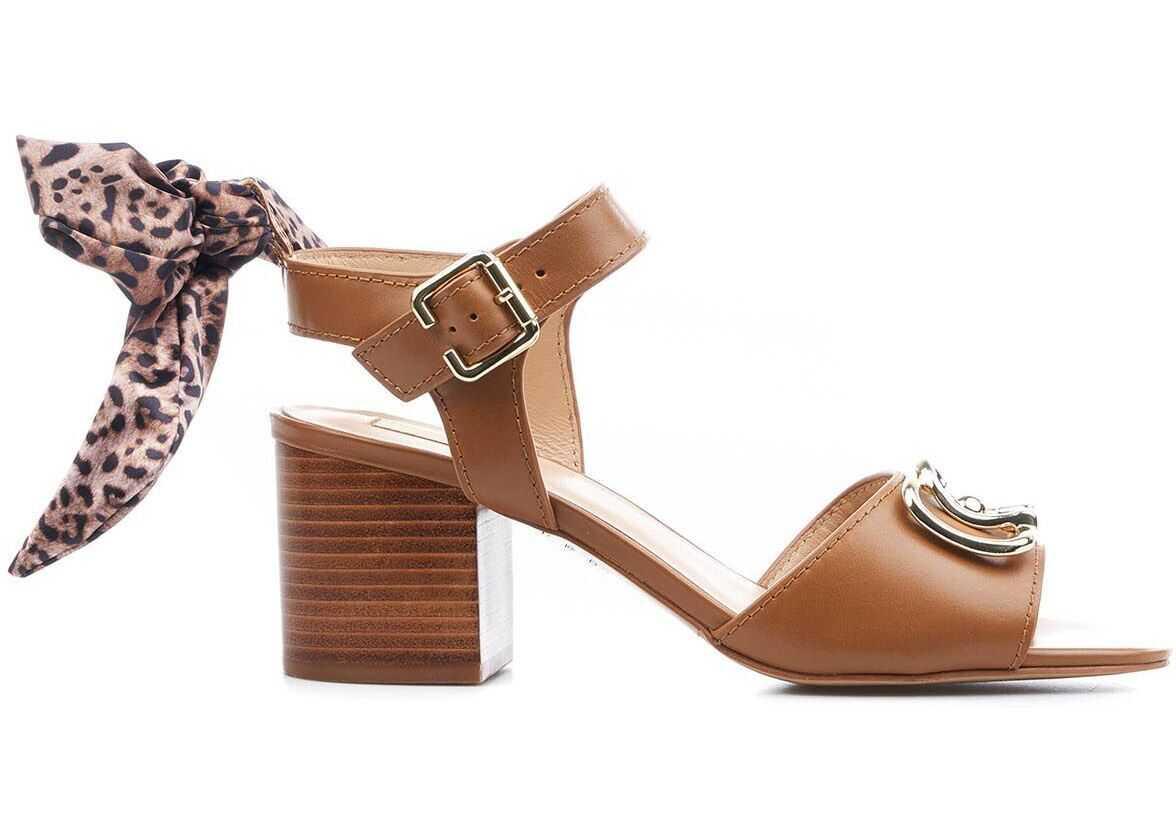 "Liu Jo Sandals ""Agata"" Brown imagine b-mall.ro"