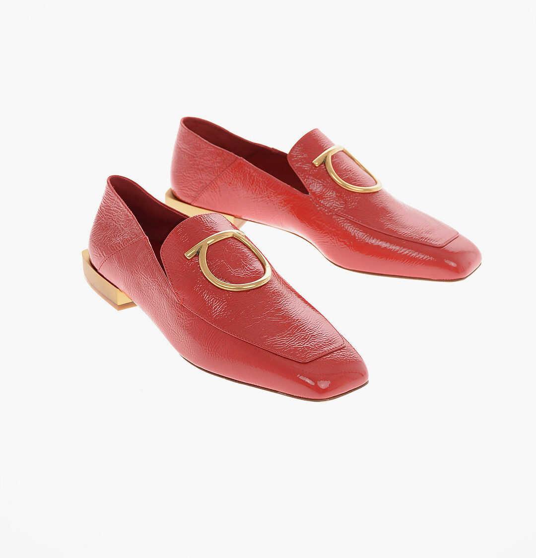 Salvatore Ferragamo leather LANA Penny loafers RED imagine b-mall.ro