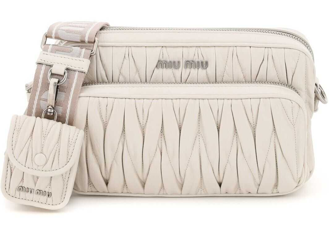 Miu Miu Quilted Camera Bag With Pouch 5BH199 V NOM 2DNV TALCO imagine b-mall.ro