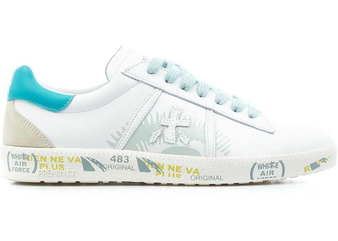 "Premiata Sneakers ""Andyd"" White imagine b-mall.ro"