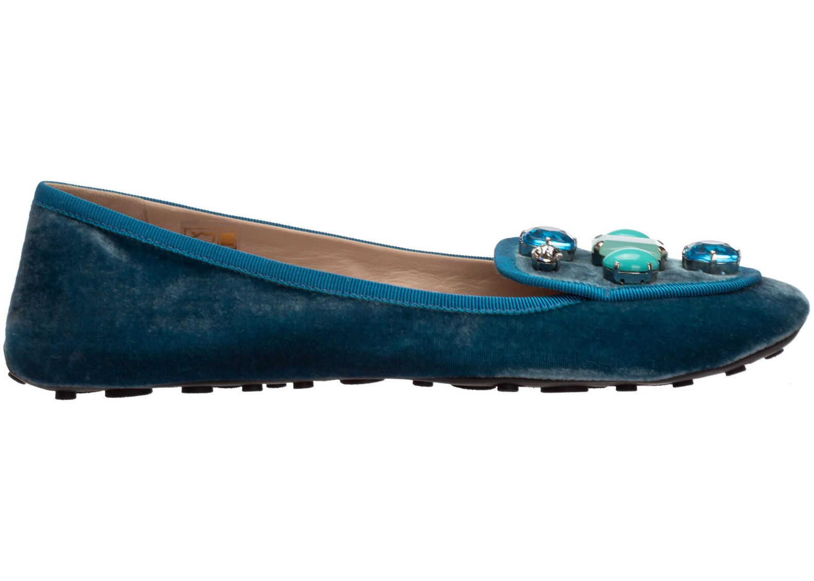 Car Shoe Flats Ballerinas KDD70OLSZF0013 Light blue imagine b-mall.ro