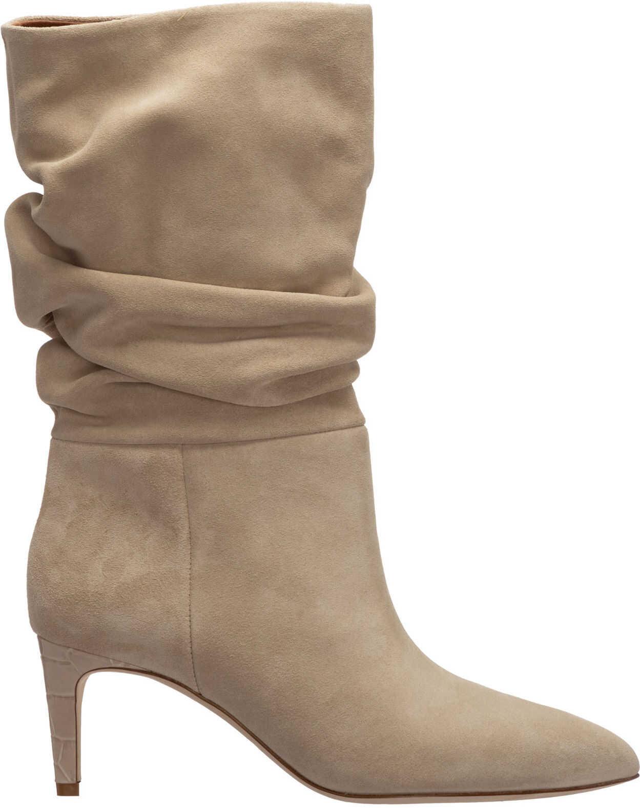 Paris Texas Heel Boots PX511 Beige imagine b-mall.ro