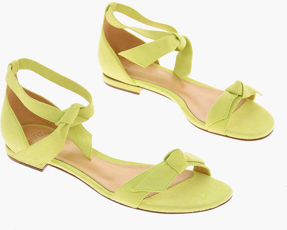 Alexandre Birman leather NEW CLARITA anke strap Sandals YELLOW imagine b-mall.ro