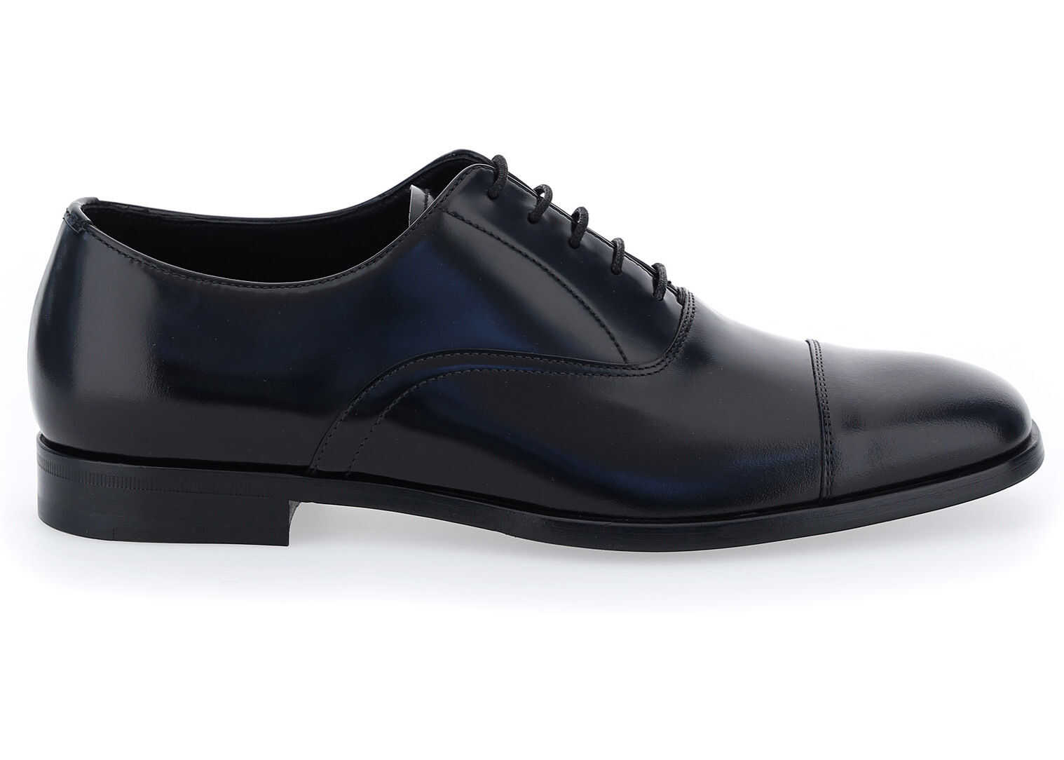 Prada Lace Up Shoes 2EB190FX001P39 NERO imagine b-mall.ro