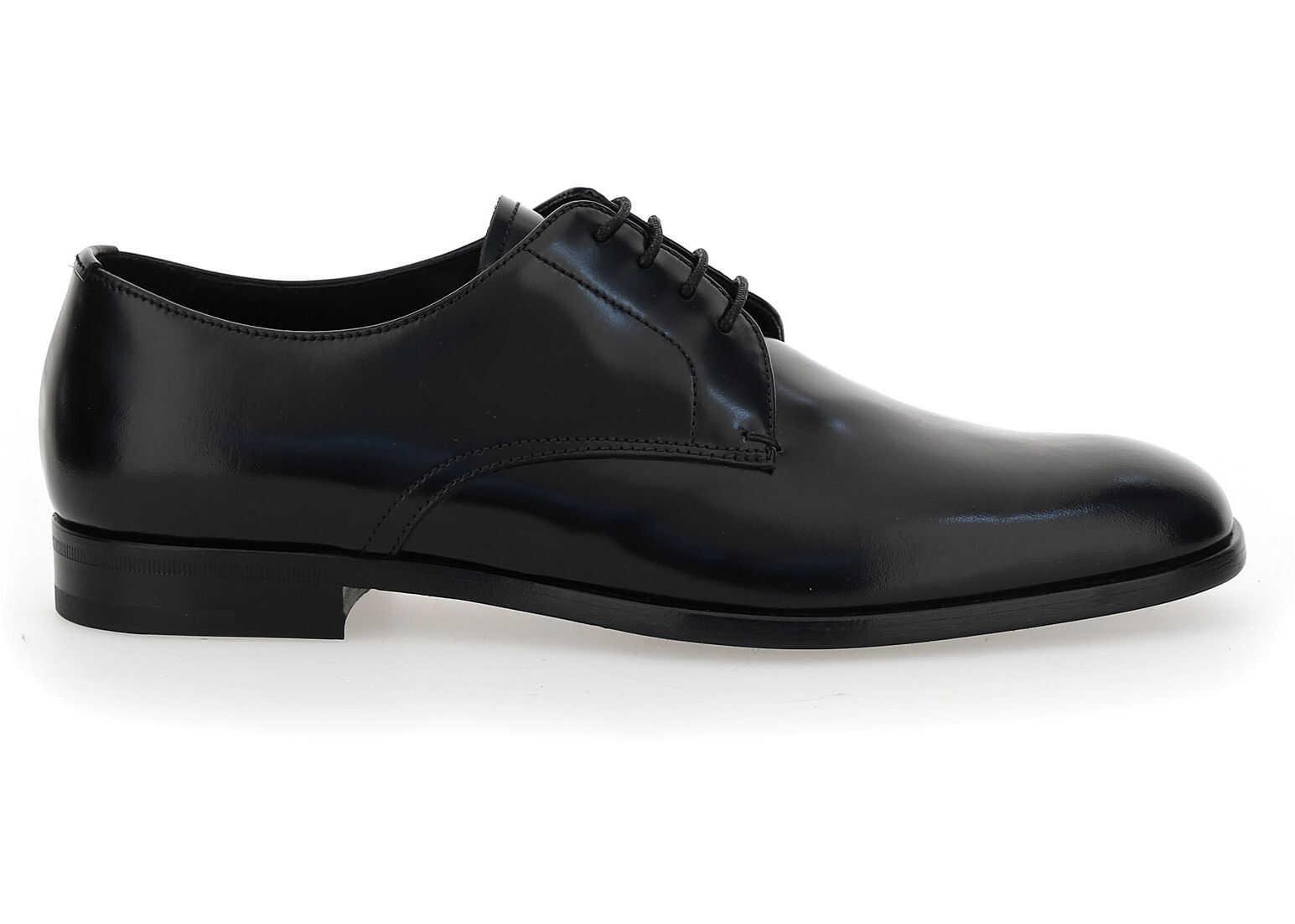 Prada Lace Up Shoes 2EB174FX001P39 NERO imagine b-mall.ro