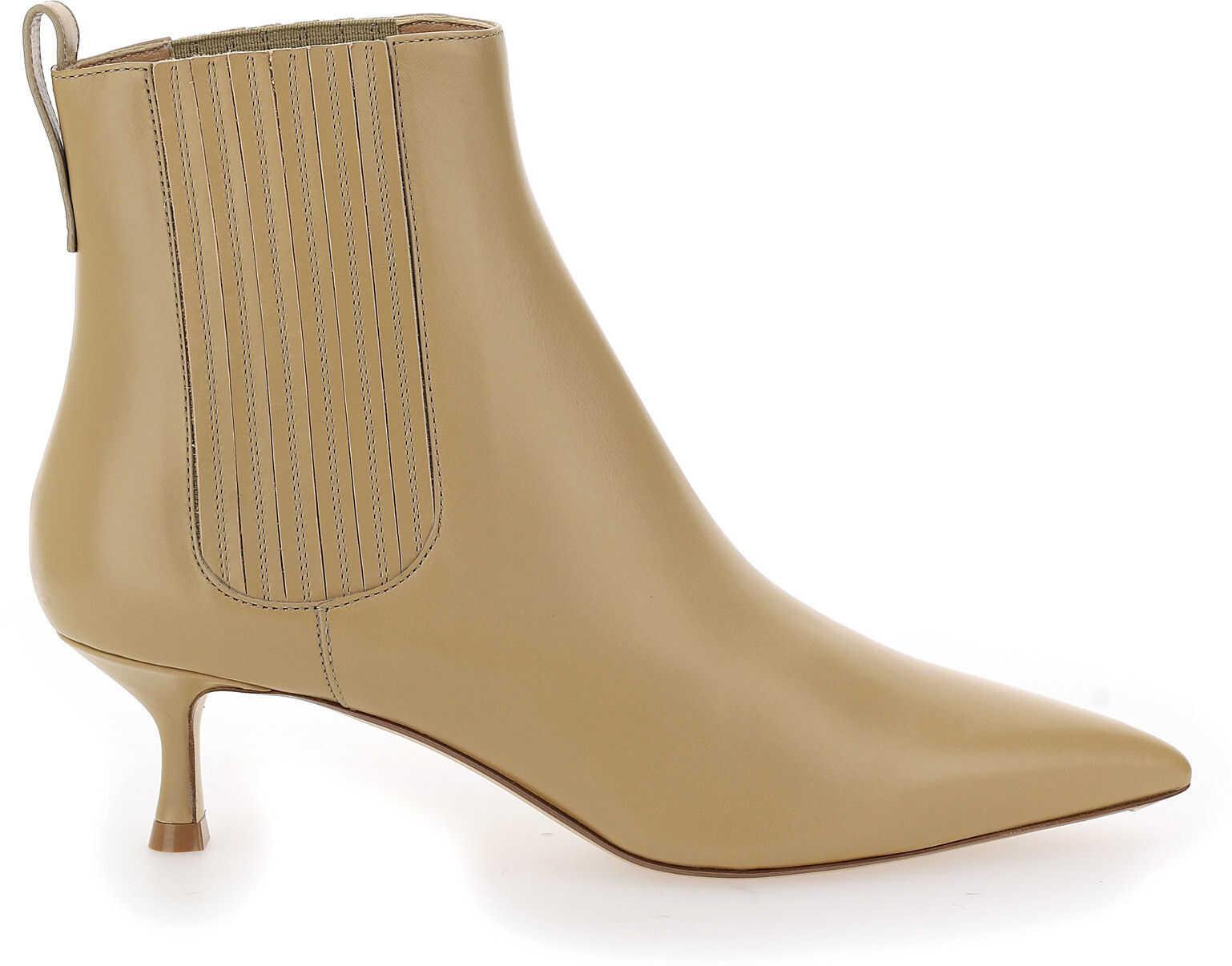 Francesco Russo Boots FR35001A12002 BEIGE imagine b-mall.ro