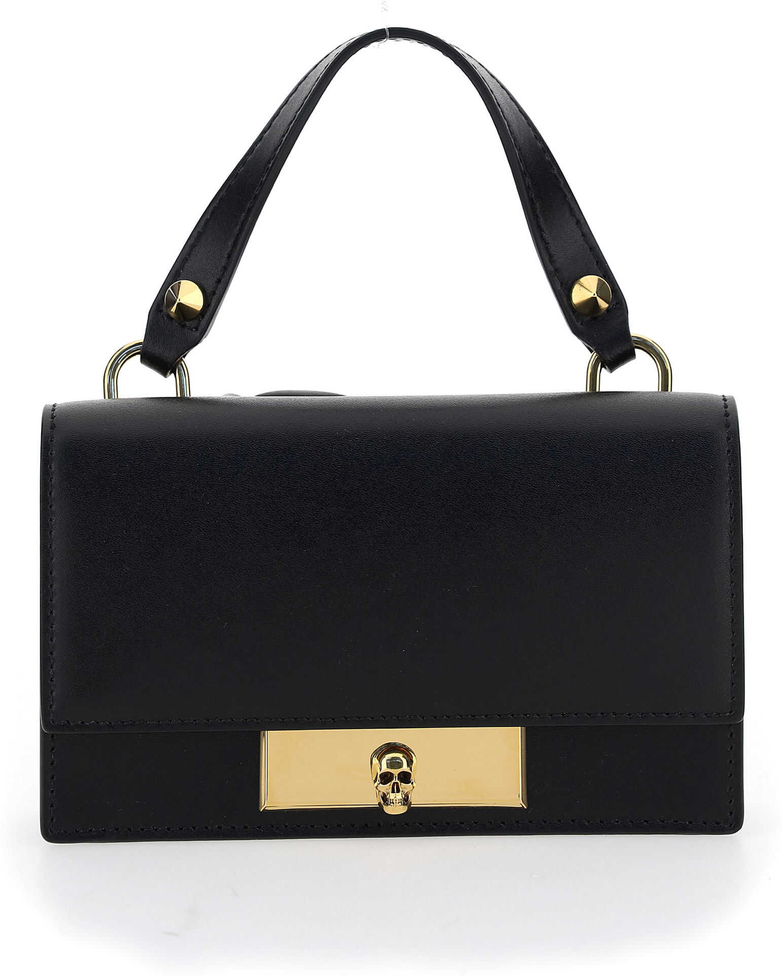 Alexander McQueen Liberty Mini Handbag 6282591CW00 BLACK imagine b-mall.ro