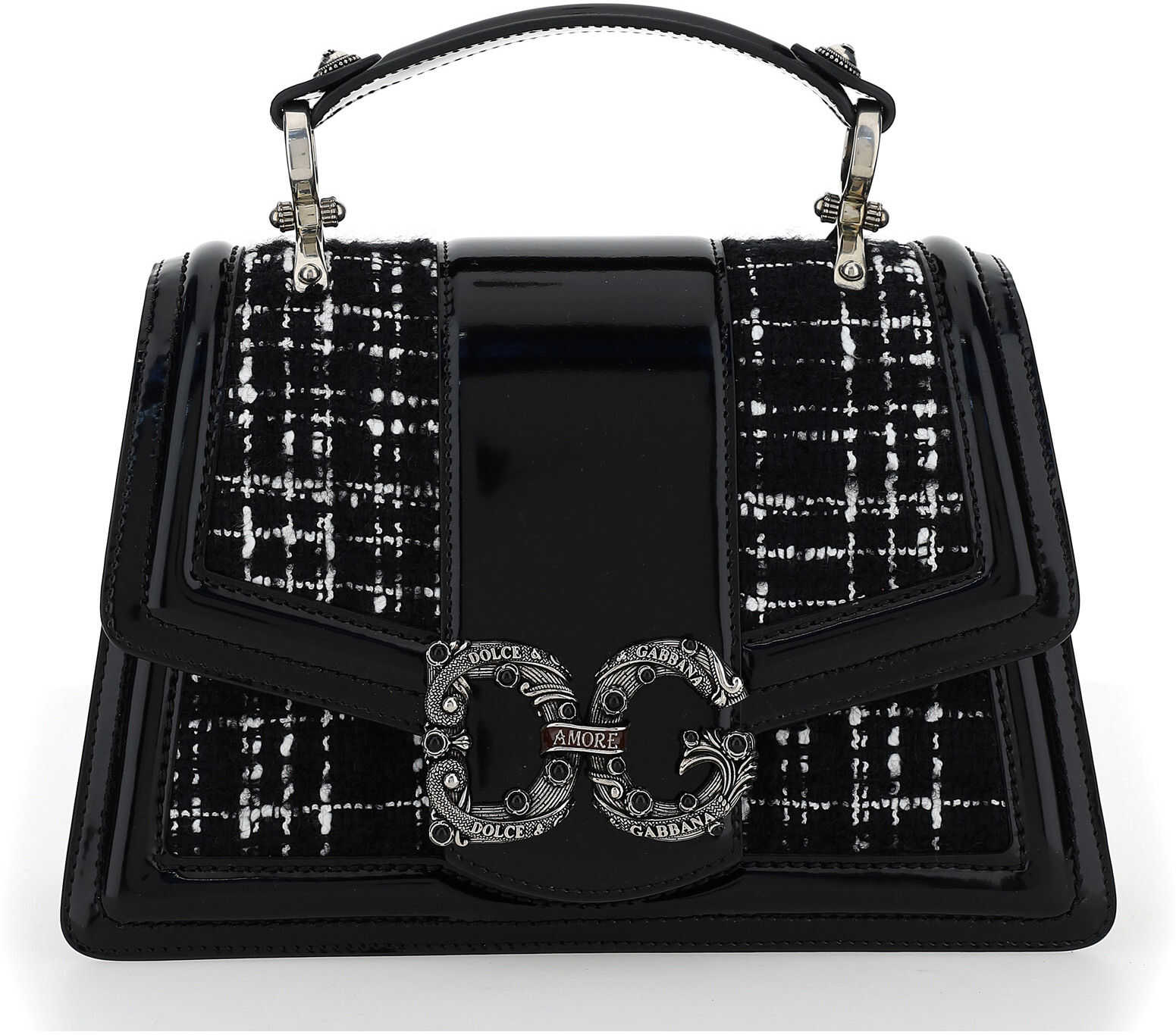 Dolce & Gabbana Handbag BB6675AW046 NERO/BIANCO imagine b-mall.ro