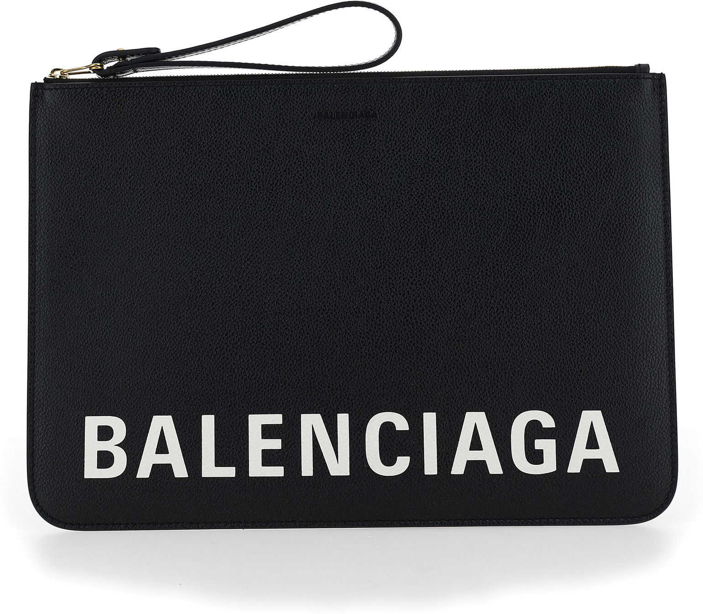 Balenciaga Pouch 6369031IZKM BLACK/L WHITE imagine b-mall.ro