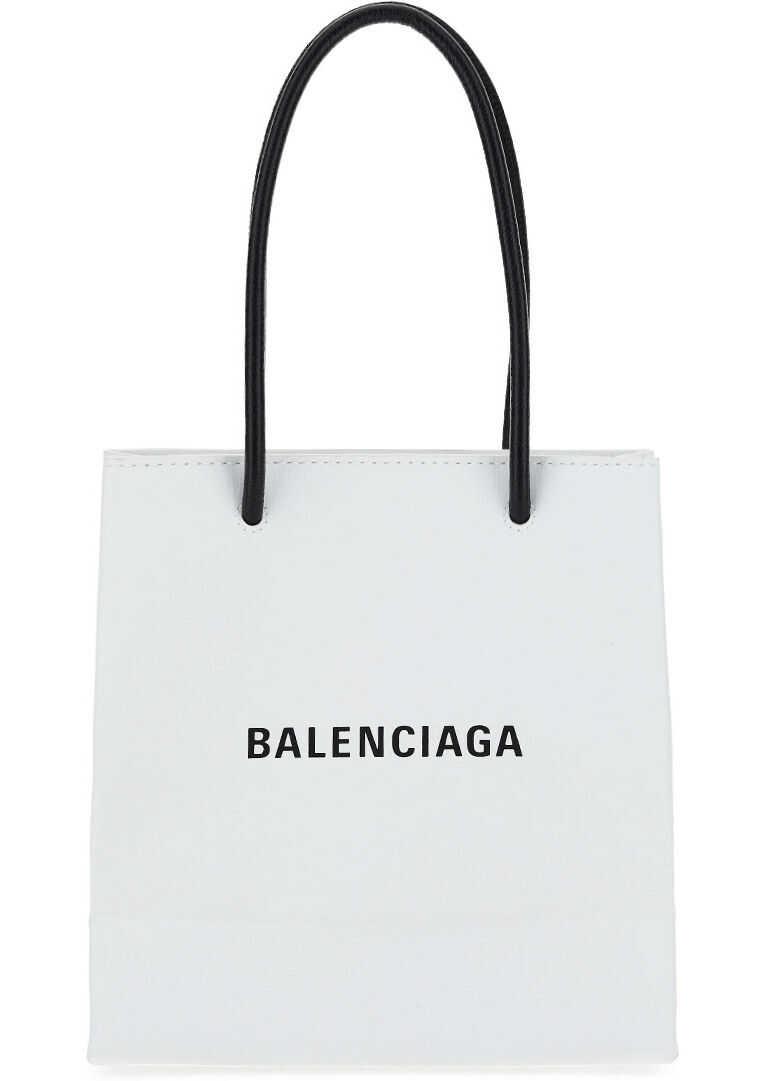 Balenciaga XXS Shopper Bag 5978580AI2N WHITE imagine b-mall.ro