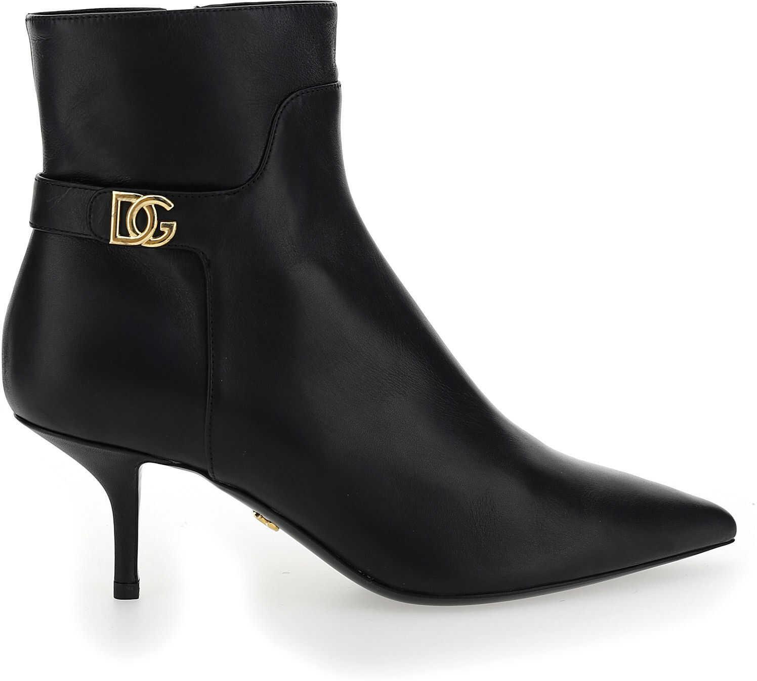 Dolce & Gabbana Bootie CT0700AW695 NERO imagine b-mall.ro