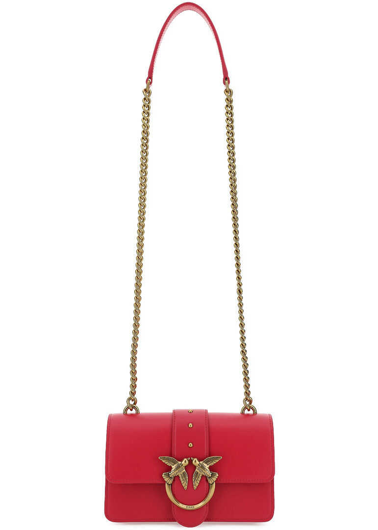 Pinko Love Mini Icon Simply Shoulder Bag 1P227MY6XT ROSA BRILLANT imagine b-mall.ro