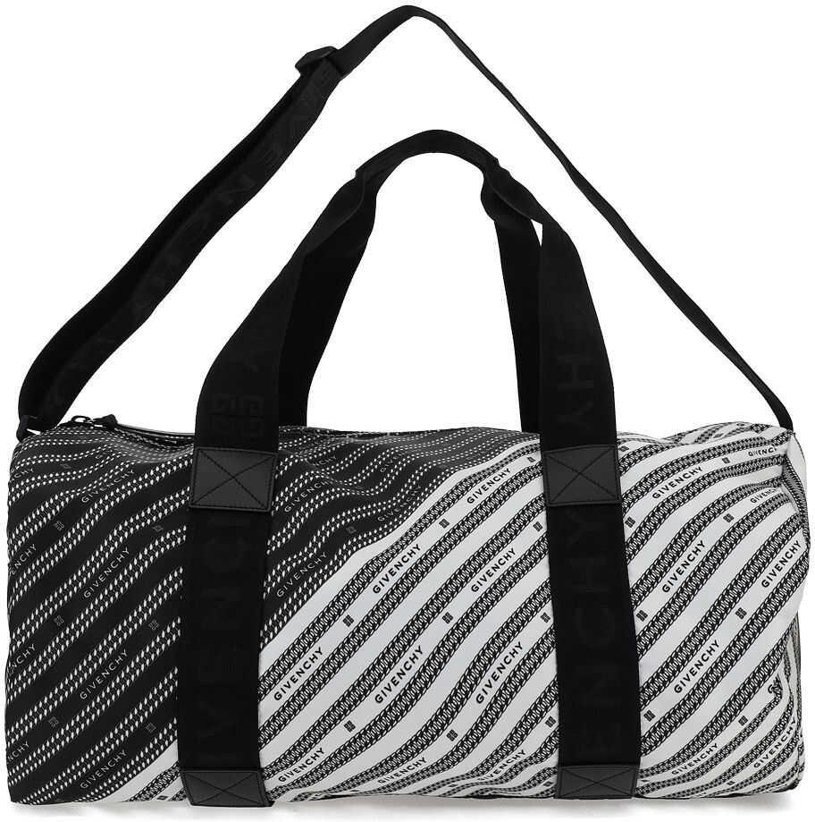 Givenchy Travel Bag BK506PK12F BLACK/WHITE imagine b-mall.ro