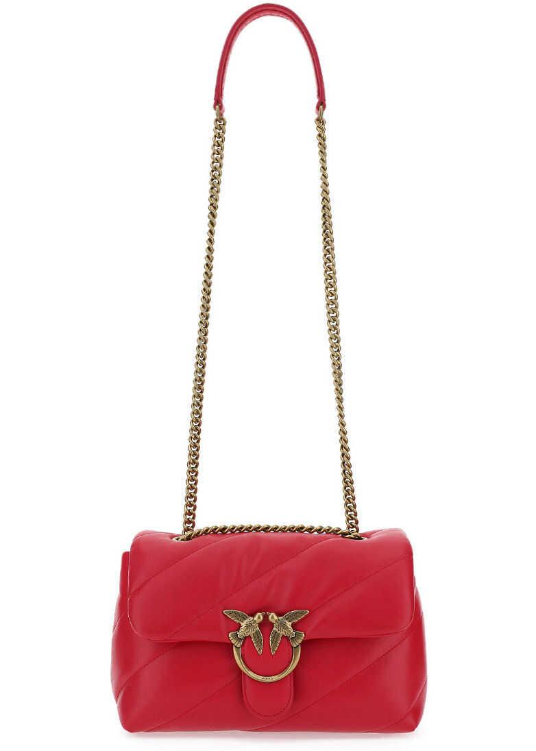 Pinko Love Classic Maxi Shoulder Bag 1P227JY6Y3 HOT PINK imagine b-mall.ro