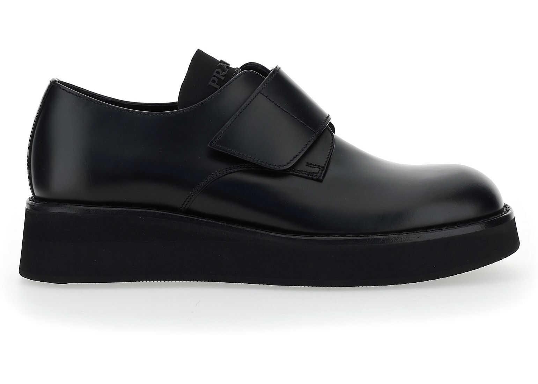Prada Derby Shoes 2EG341B4L BLACK imagine b-mall.ro
