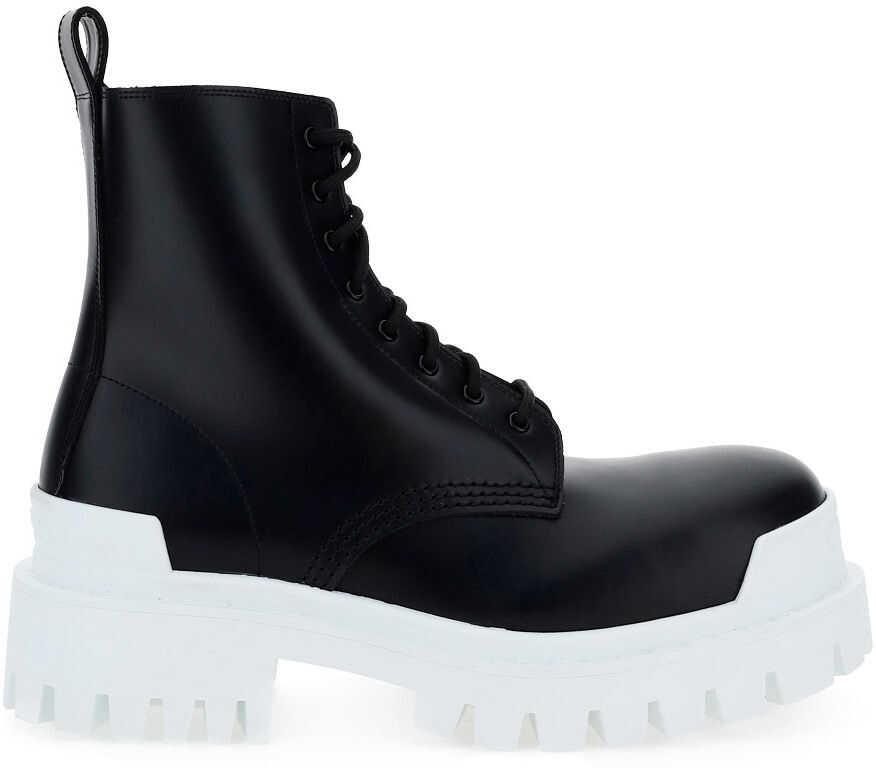 Balenciaga Boots 590974WA967 BLACK/OPTICAL WHITE imagine b-mall.ro