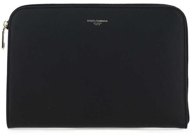 Dolce & Gabbana Pochette BM1751AC954 BLACK imagine b-mall.ro