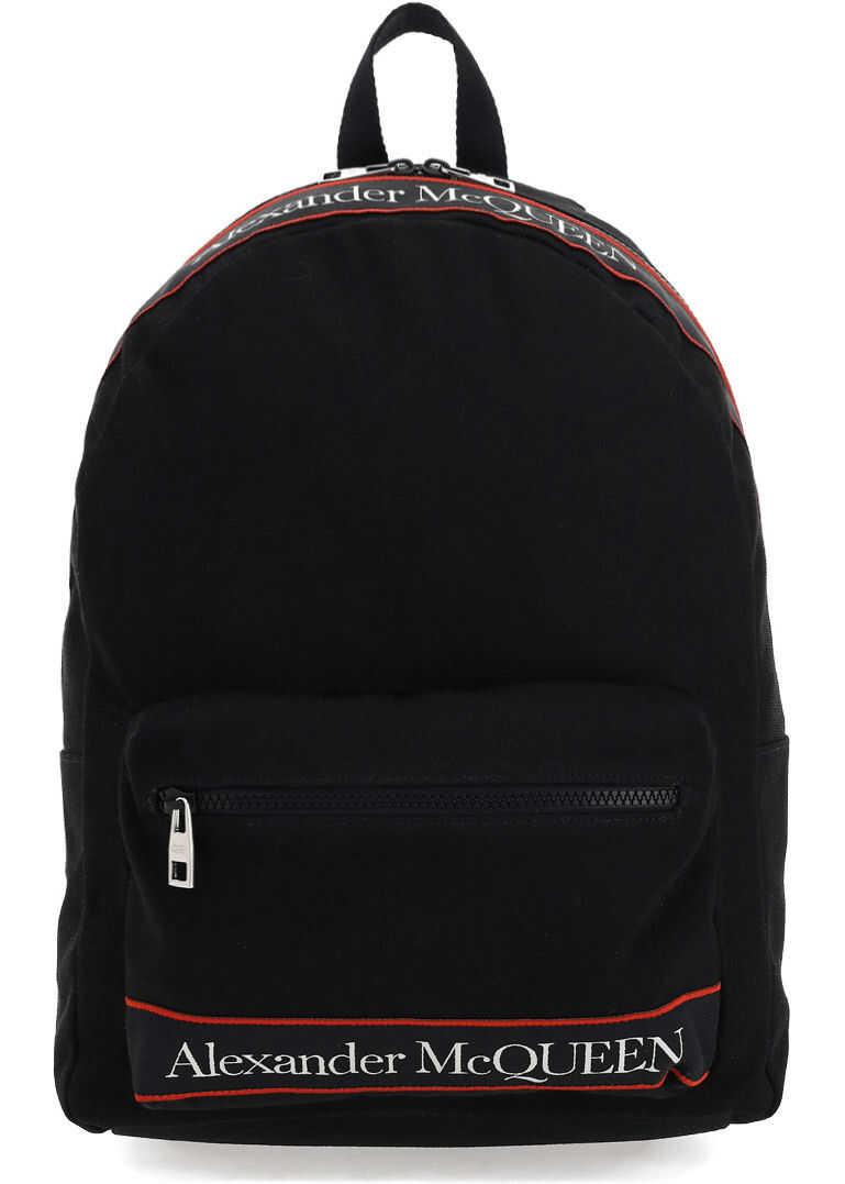 Alexander McQueen Backpack 6464571AAAJ BLACK imagine b-mall.ro