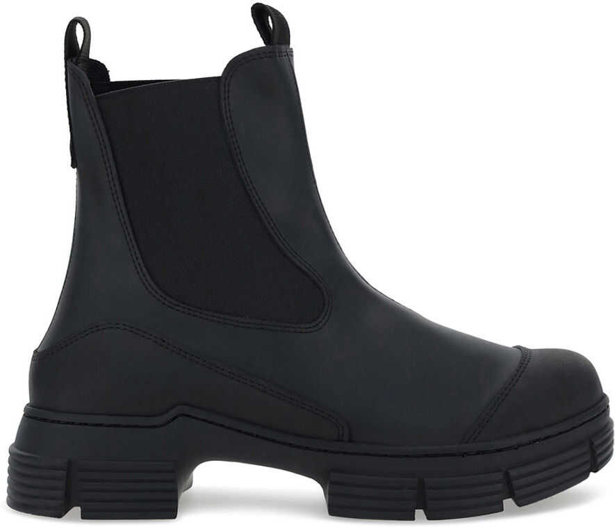 Ganni Rubber Boots S1526 BLACK imagine b-mall.ro
