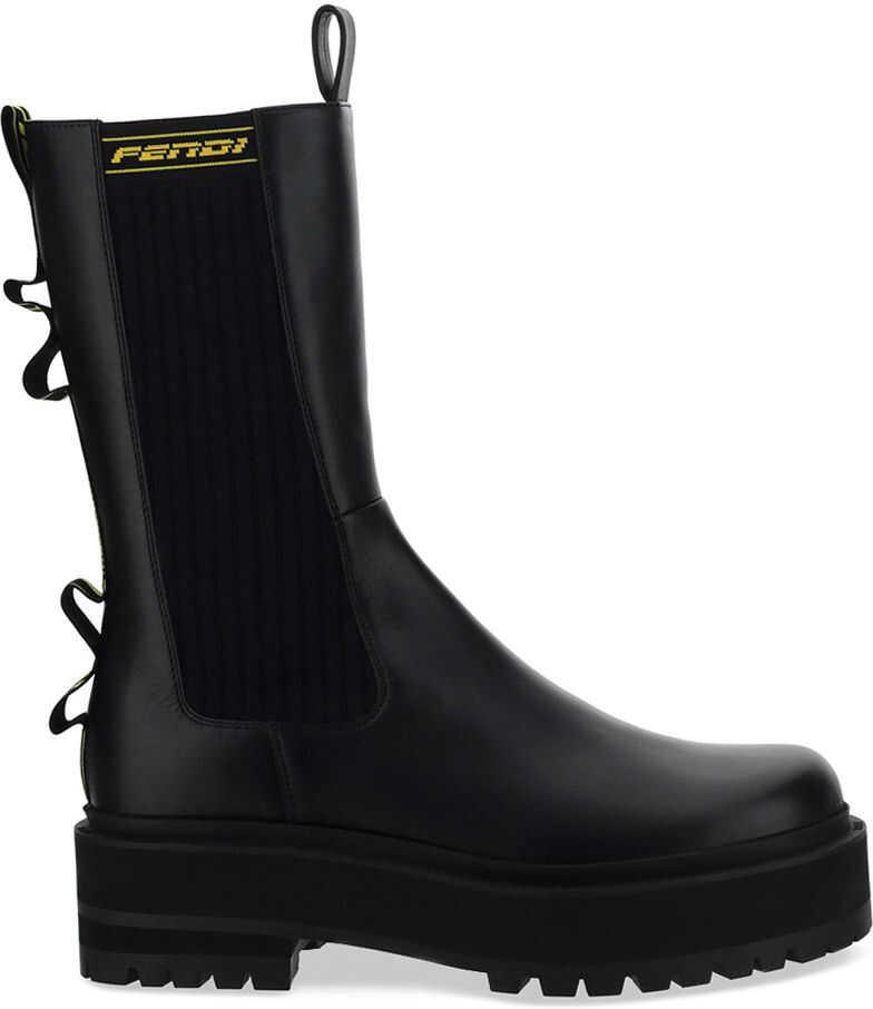 Fendi Biker Boots 8T8068AD84 BLACK imagine b-mall.ro