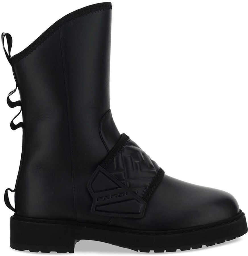 Fendi Biker Boots 8T8076AEGD BLACK imagine b-mall.ro