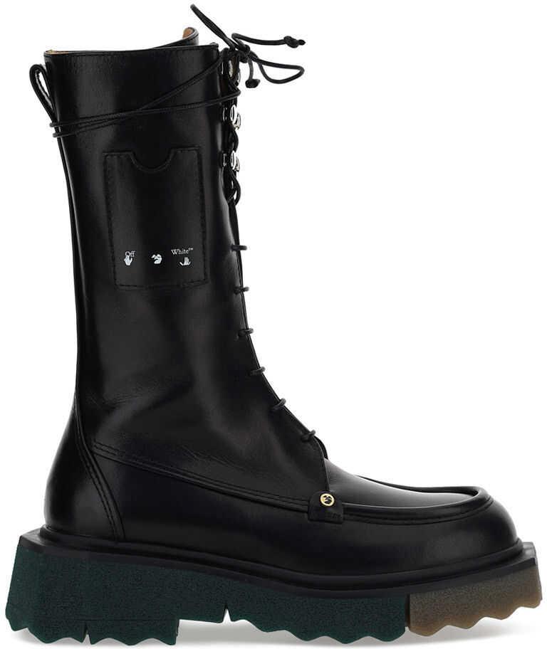 Off-White Combat Boots OWIE009S21LEA001 BLACK NO C imagine b-mall.ro