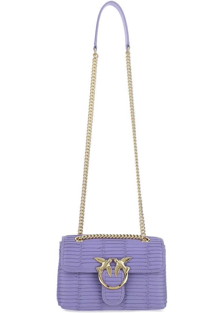 Pinko Love Mini Shoulder Bag 1P223YY6YG DOLCI LAVANDA imagine b-mall.ro