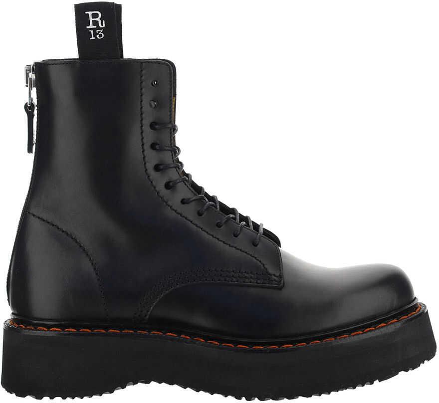 R13 Boots R13S0002018 BLACK imagine b-mall.ro