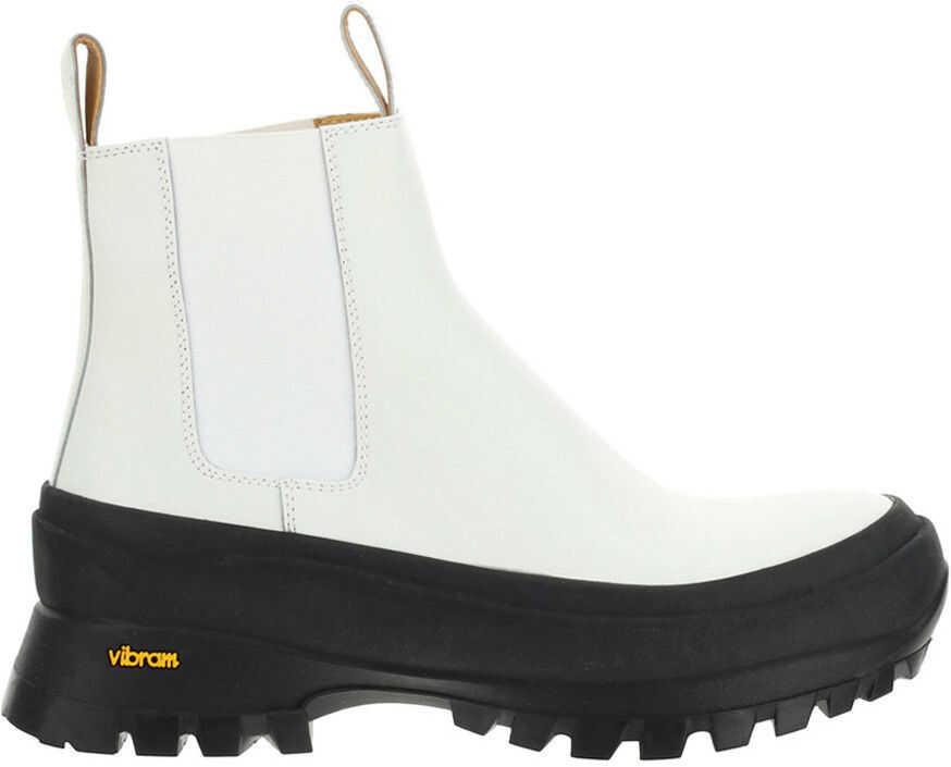 Jil Sander Ankle Boot JP33010A13084 WHITE imagine b-mall.ro