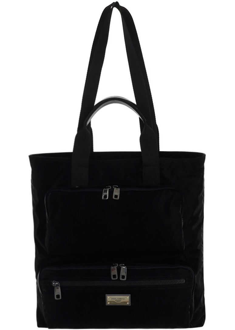 Dolce & Gabbana Shopping Bag BM1959AO243 NERO imagine b-mall.ro