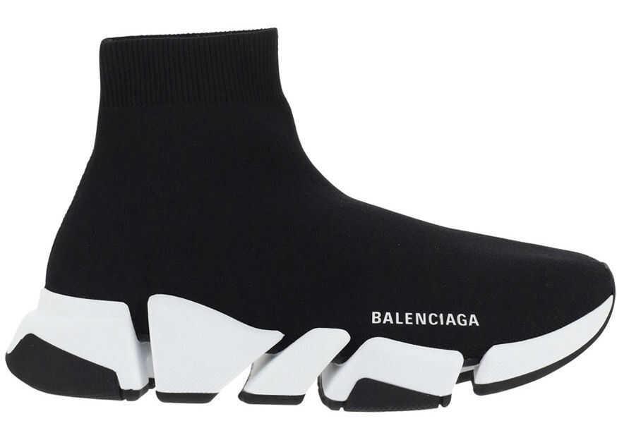 Balenciaga Speed Sneakers 617196W2DB2 BLACK/WHITE/BLACK imagine b-mall.ro