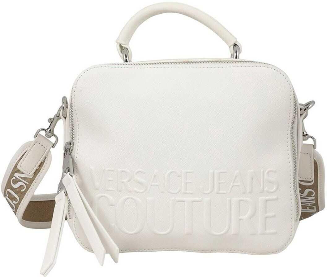 Versace Jeans Couture Saffiano Faux Leather Camera Bag In White E1VWABR571882003 White imagine b-mall.ro