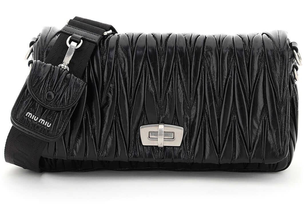 Miu Miu Quilted Shoulder Bag With Pouch 5BD208 V NOY 2DNV NERO imagine b-mall.ro