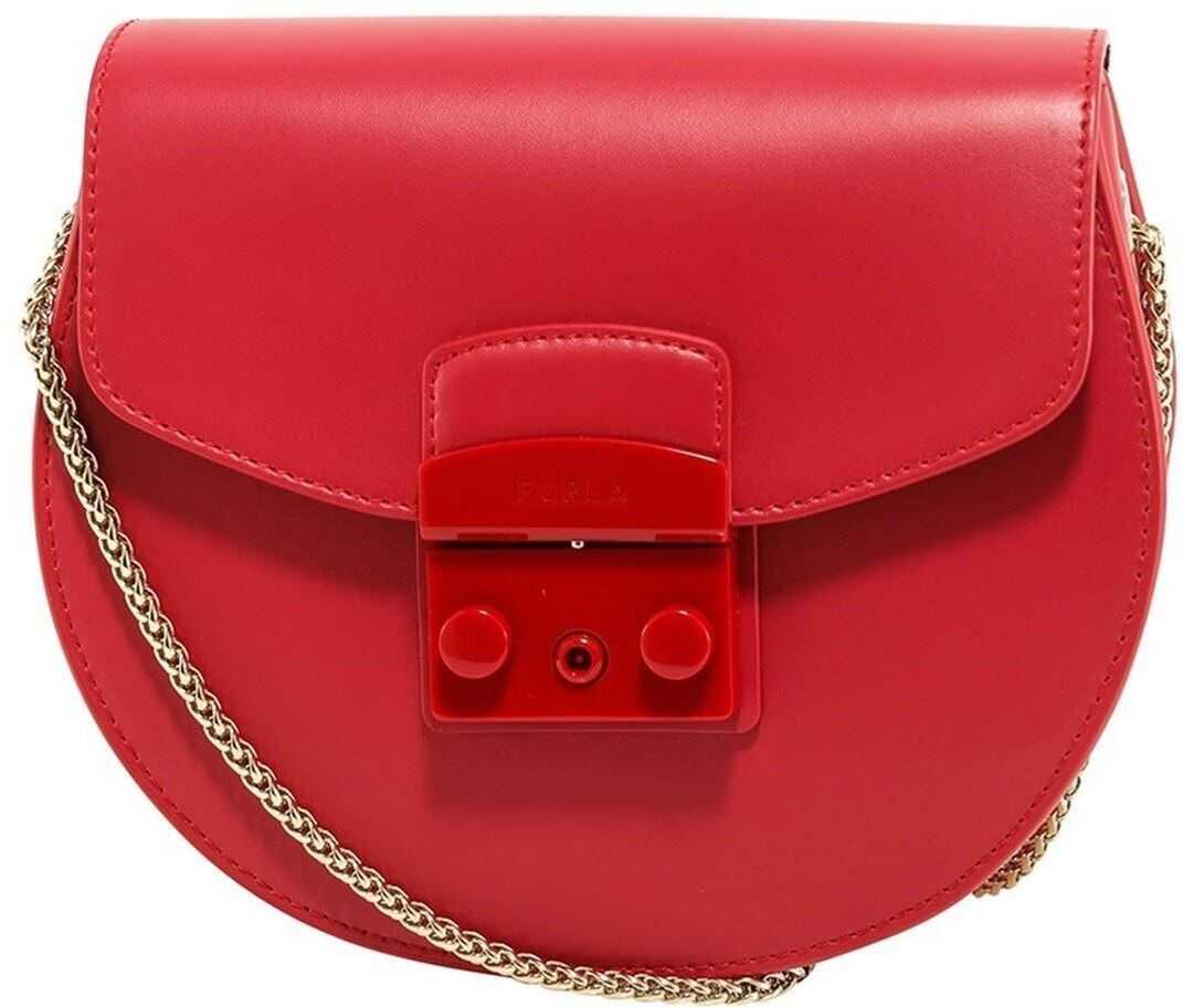 Furla Metropolis Leather Bag In Cognac Color BATJEP0VNC000RUBY Red imagine b-mall.ro