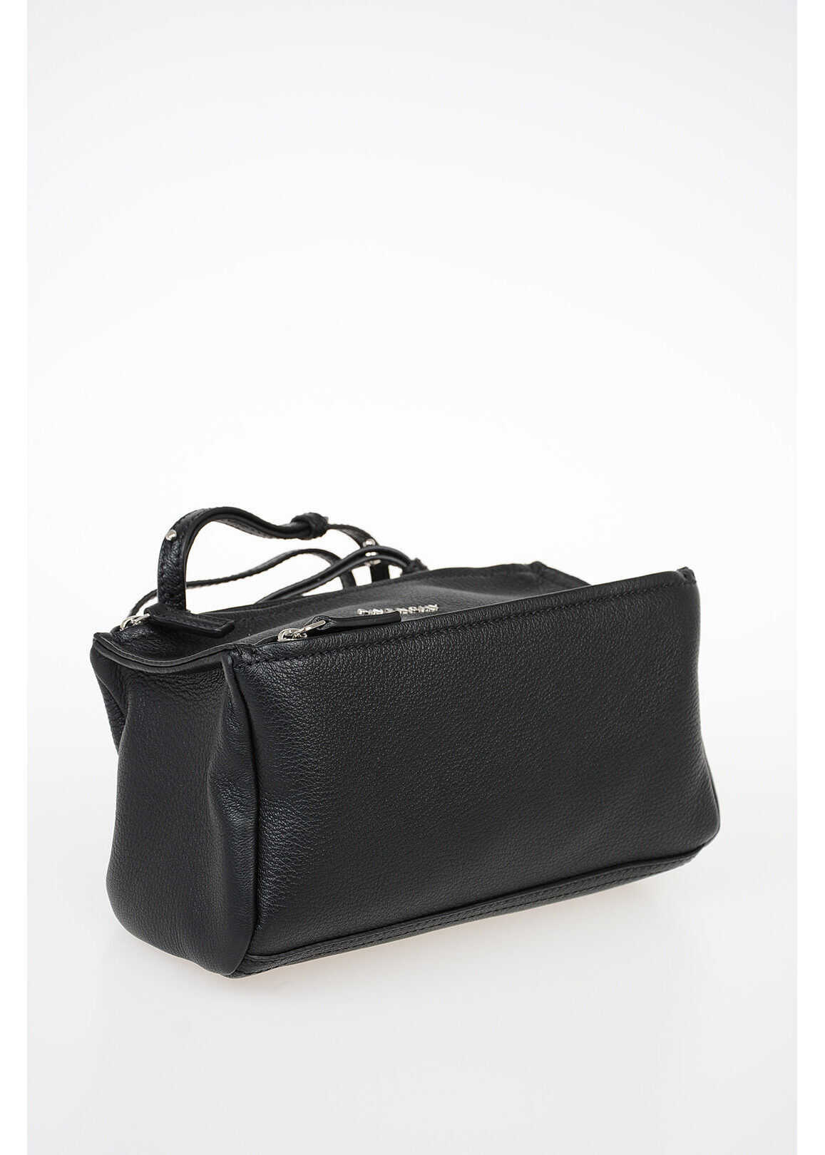 Givenchy Leather PANDORA Bowler bag with Shoulder Strap BLACK imagine b-mall.ro