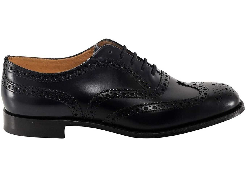 Church's Burwood Classic Shoes In Blue EEB2649XVF0DT3 Blue imagine b-mall.ro