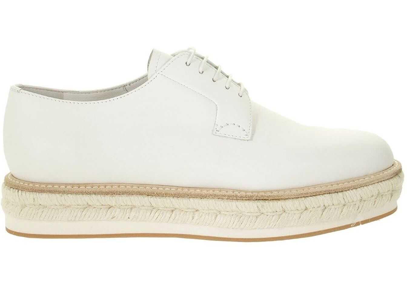 Church's Shannon Oxford Shoes In White DE02239ACEF0ABK White imagine b-mall.ro