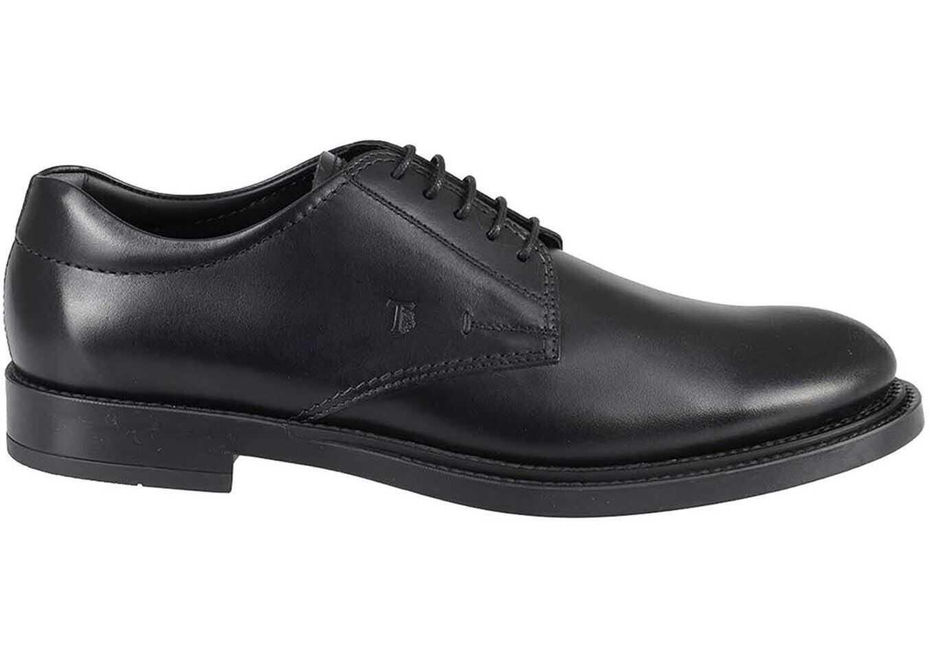 TOD'S Leather Classic Shoes In Black XXM62C00C2000LWB999 Black imagine b-mall.ro