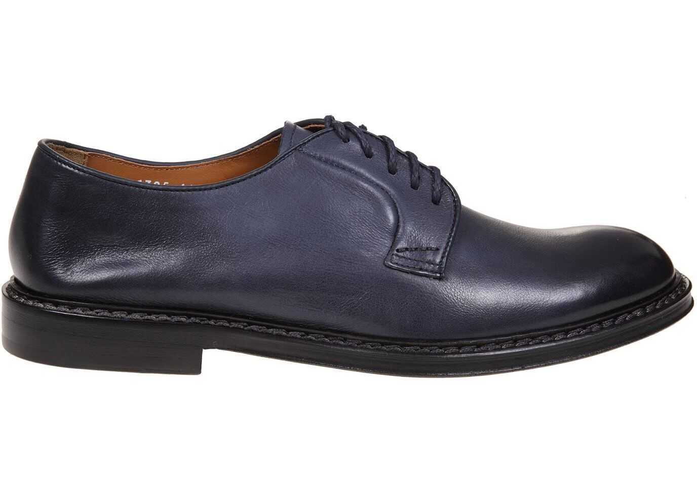 Doucal's Harley Derby Shoes In Blue DU1385PHOEUY196NB00 Blue imagine b-mall.ro