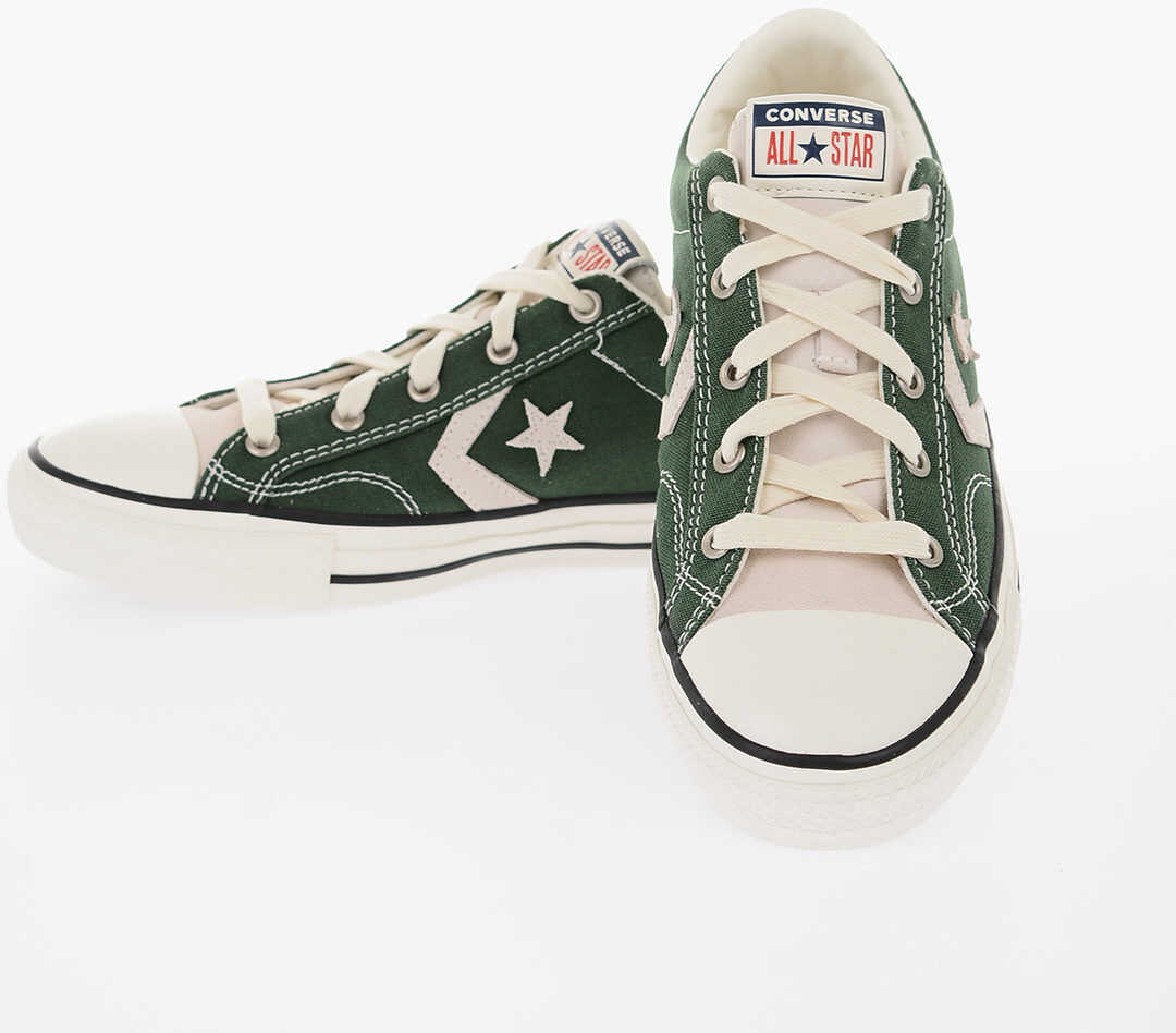 Converse ALL STAR PLAYER Fabric Sneakers GREEN imagine b-mall.ro